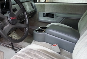 Graphite Bench Seat Console in a 1994 Blazer Sport F/S 2-Door w/60-40 front bench seat!