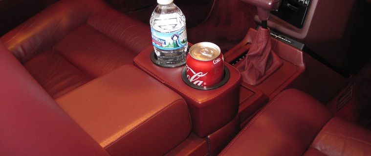 Cadillac Allante Upholstered Custom Dual Drink Holder